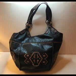 The Sak Leather Black Bucket Purse
